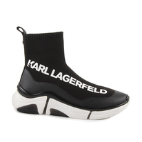 Ghete KARL LAGERFELD Sneakers high top barbati Karl Lagerfeld negri 2050BG51741N